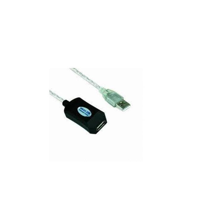Кабел VCom CU823-30m, USB A(м) към USB А(ж), 30m, бял image