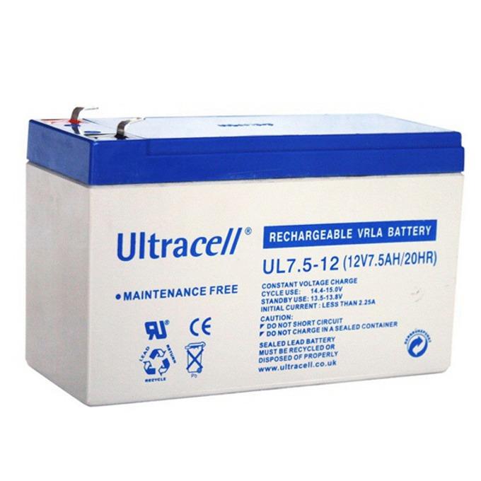 Акумулаторна батерия Ultracell 7.5-12, 12V, 7.5Ah image