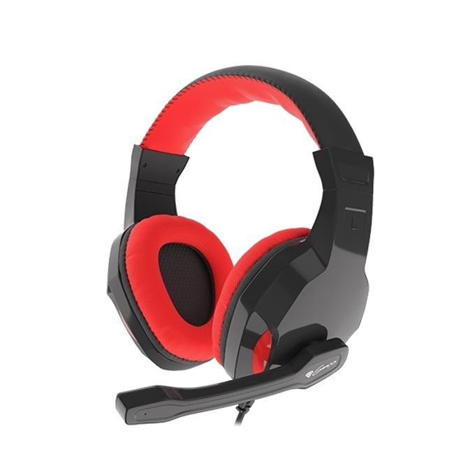 Слушалка Genesis Argon 100, микрофон, черни/червени image