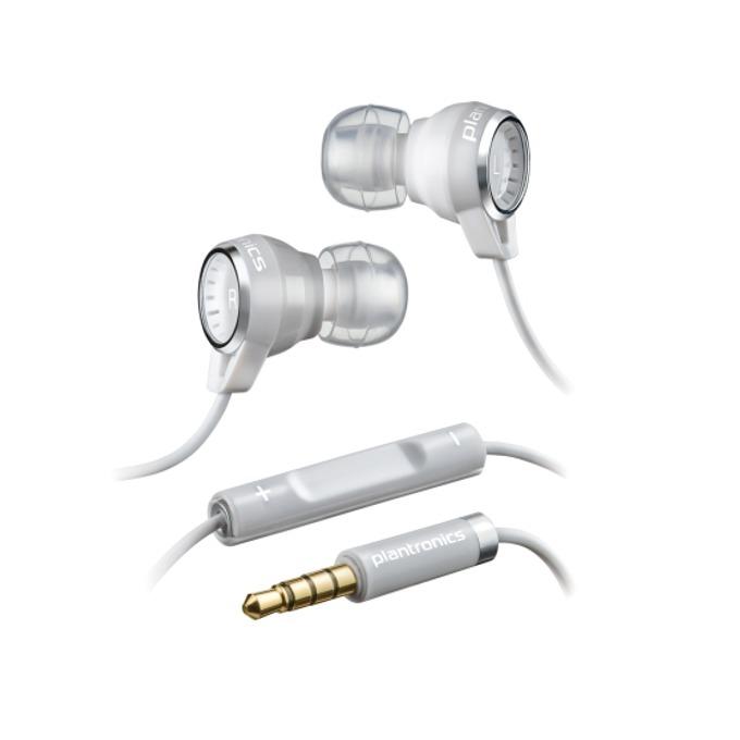 """Слушалки Plantronics BACKBEAT 216, бели, микрофон, тип """"тапи""""  image"""