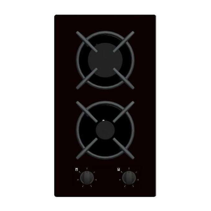 Газов плот за вграждане Crown VCG 30S/VCG 32S, 2 нагревателни зони, 12 степени на мощност, черен image