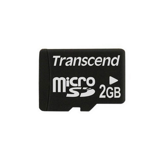 2GB microSD, Transcend, Class 4, скорост на четене 14MB/s, скорост на запис 5MB/s image