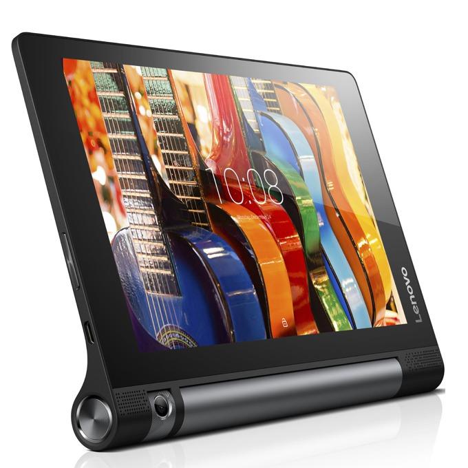 "Таблет Lenovo Yoga Tablet 3 8 (ZA0B0059BG) черен, 4G/3G, 8""(20.32 cm) четири-ядрен Qualcomm Snapdragon 1.3 GHz, 2GB RAM, 16GB Flash памет (+microSD слот), 8 Mpix *Въртяща се камера, Android, 472g image"