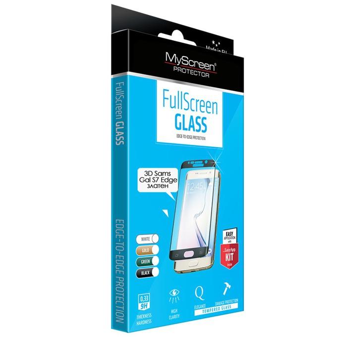Протектор от закалено стъкло/Tempered Glass/ Cellular Line, 3D Diamond за Samsung Galaxy S7 Edge, прозрачен image
