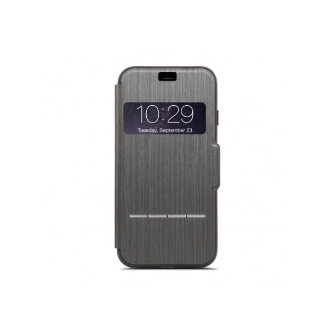 Калъф Apple iPhone 7/8, отваряем с прозорче, термополиуретан, Moshi SenseCover 99MO072008, черен image