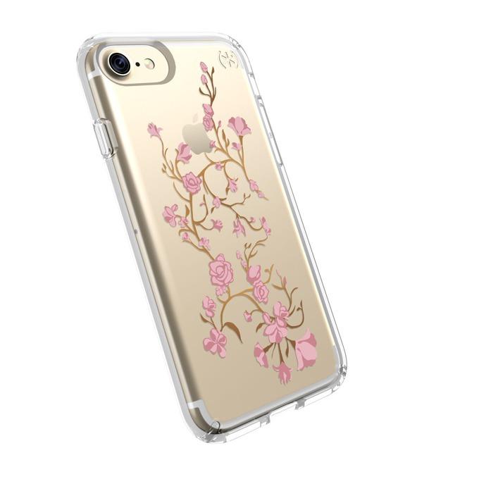 Страничен протектор с гръб Speck за iPhone 7, прозрачен (с цветя) image