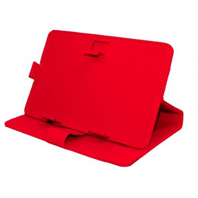 """Калъф за таблет до 9"""" (22.9 cm), """"бележник"""", кожа, червен image"""