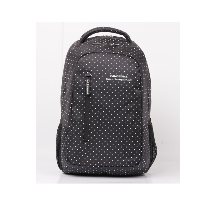 """Раница Kingsons """"Hot Dot"""" KS3010W за лаптоп до 14.5"""" (36.8cm), черна image"""