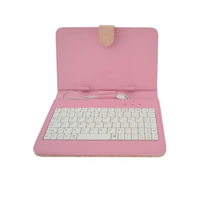 "Калъф Privileg за таблет до 7"" (17.78 cm), ""бележник"", розов, с клавиатура  image"