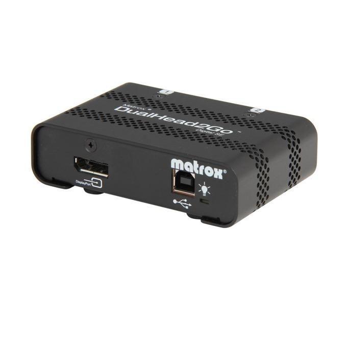 KVM Switch Matrox DualHead2Go D2G-DP2D-IF, от 1x Display Port(ж) към 2x DVI-D(ж), USB B(ж), 1 устройство image