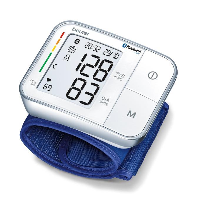 Апарат за кръвно налягане Beurer BC57, Bluetooth, цветна индикация за рискови стойности, индикатор при аритмия, Beurer HealthManager, бял image
