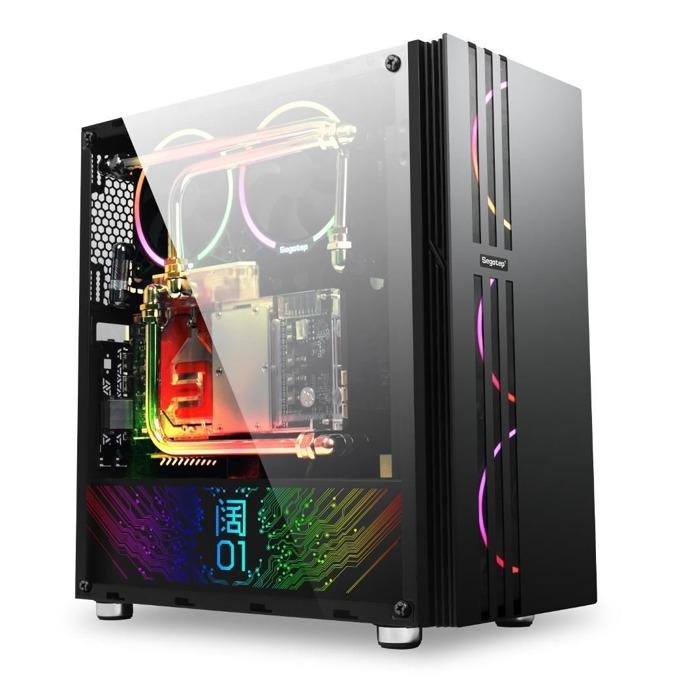 Кутия Segotep Fenix 2, ATX/microATX/Mini-ITX, с прозорец, USB 3.0, черна, без захранване image