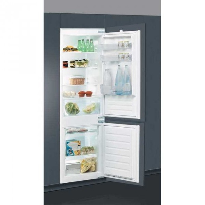 Хладилник с фризер Indesit B 18 A1D/I, клас А+, 275 л. общ обем, за вграждане, 299 kWh/годишно, инокс image