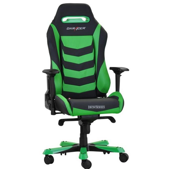 Геймърски стол DXRacer Iron OH/IS166/NE, черен/зелен image
