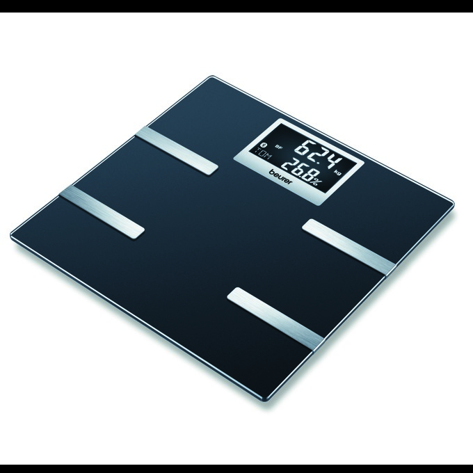 Цифров кантар Beurer BF700 pink, капацитет до 180 кг., автоматично вкл/изкл., LCD дисплей, компактен дизайн, черен image