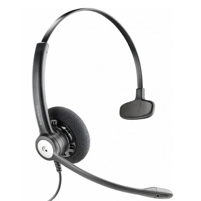 Слушалки Plantronics Entera HW111N, широколентов звук, шумоизолиращ микрофон, QD букса, черни image