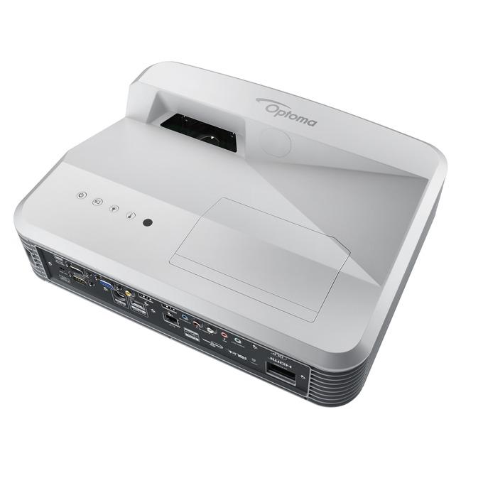 Проектор Optoma EH320UST, късофокусен, 4000 Lumens, 20 000:1, Full HD, 2x HDMI, RJ45, USB image