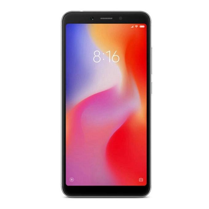 """Смартфон Xiaomi Redmi 6А (черен) поддържа 2 sim карти, 5.45"""" (13.84 cm), четириядрен Helio A22, 2GB RAM, 16GB Flash памет (+ microSD слот), 13 MPix & 5MPix камера, Android, 145 g image"""