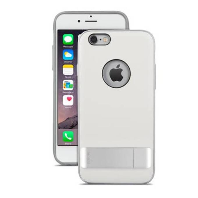 Калъф за Apple iPhone 6S, хибриден, Moshi Kameleon, с поставка, бял image
