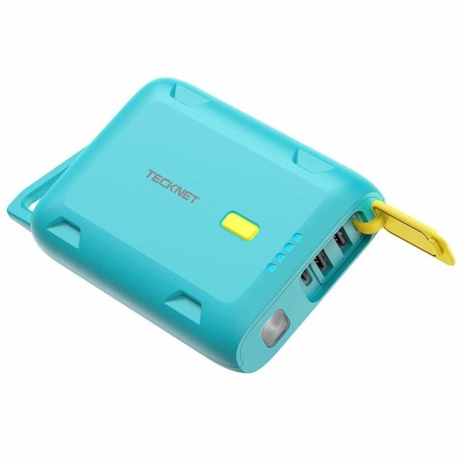 Външна батерия /power bank/ TeckNet EBT01153LA01, 10000 mAh, синя, USB Type-C, 2x USB Type-A, USB micro B, водоустойчива image