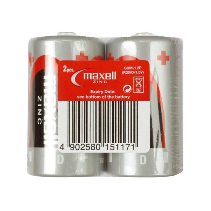 Батерии манганови Maxell R20, 1.5V, 2 бр.