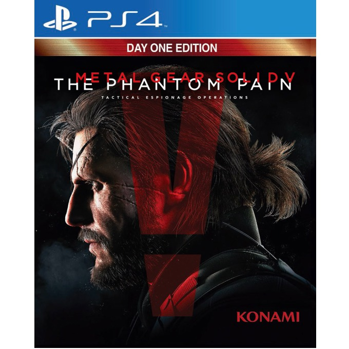 Игра за конзола Metal Gear Solid V: The Phantom Pain Day 1 Edition, DLC: Adam-ska, Personal Ballistic Shield, Cardboard Box, Metal Gear Online XP Boost; за PS4 image