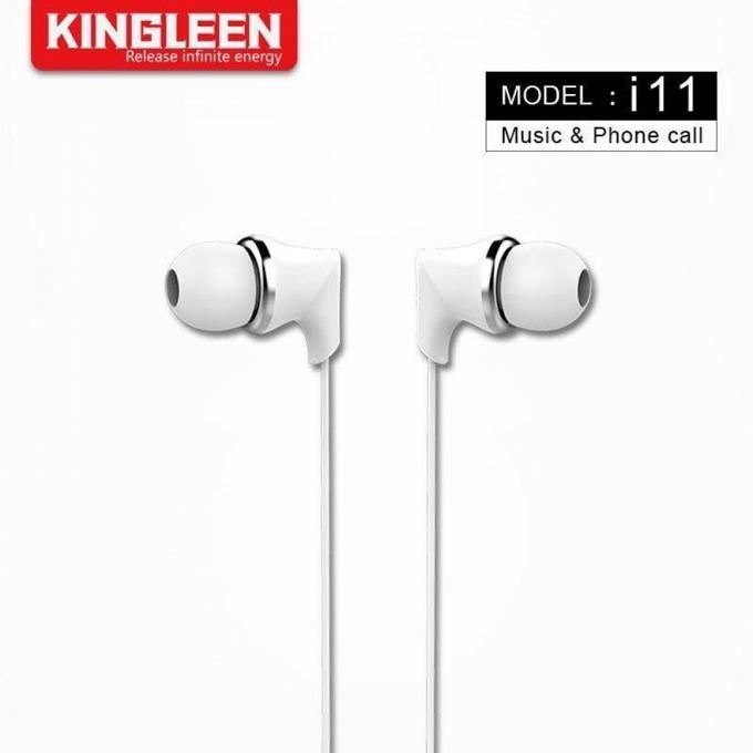 Слушалки Kingleen i11, микрофон, 3.5 мм жак, бели image