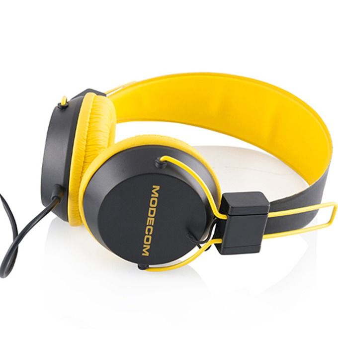 Слушалки Modecom MC-400 Circuit, микрофон, жълти image