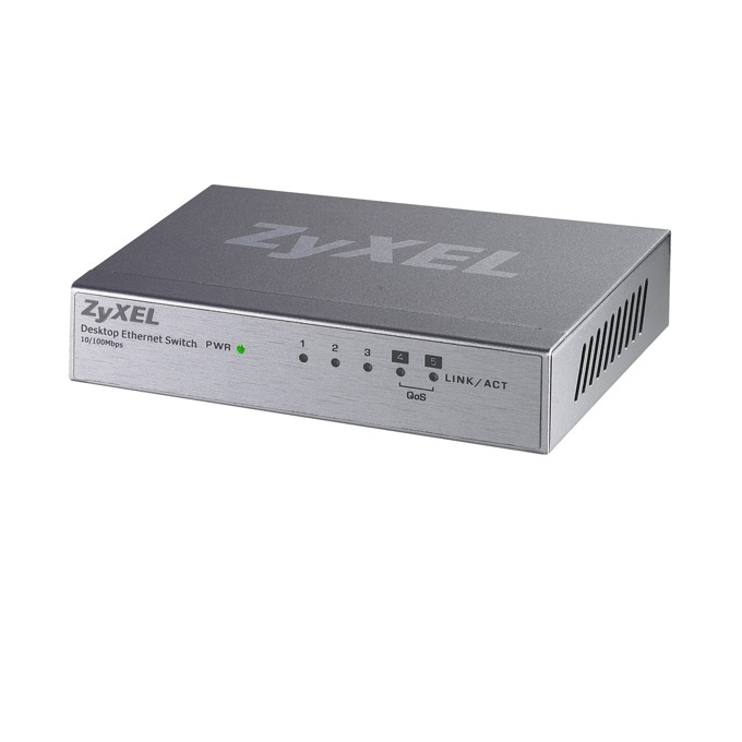 Суич ZyXEL ES-105AV2, 100Mbps, 5x ports, 2x QoS image