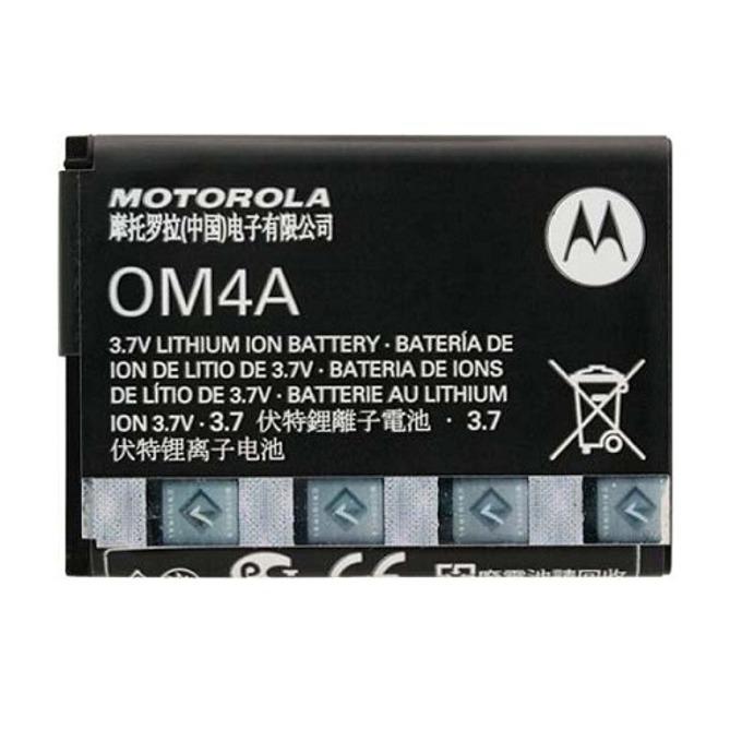 Батерия (оригинална) Motorola OM4A за Motorola Gleam, EX211, WX160, WX180, WX260, WX295, WX390, WX395, 750mAh/3.7V, Bulk image