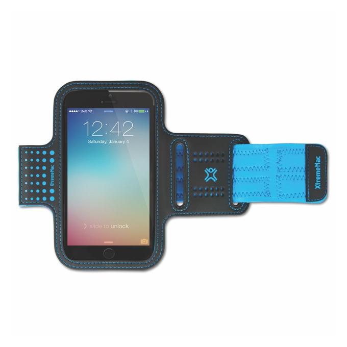 Калъф за ръка XtremeMac за Apple iPhone 6S, iPhone 5s, iPhone 5c, iPhone 5, iPhone 4s, Samsung S6, Samsung S6 Edge, Samsung S5, Ipod, iTouch, Lumia, Blackberry, син/черен image