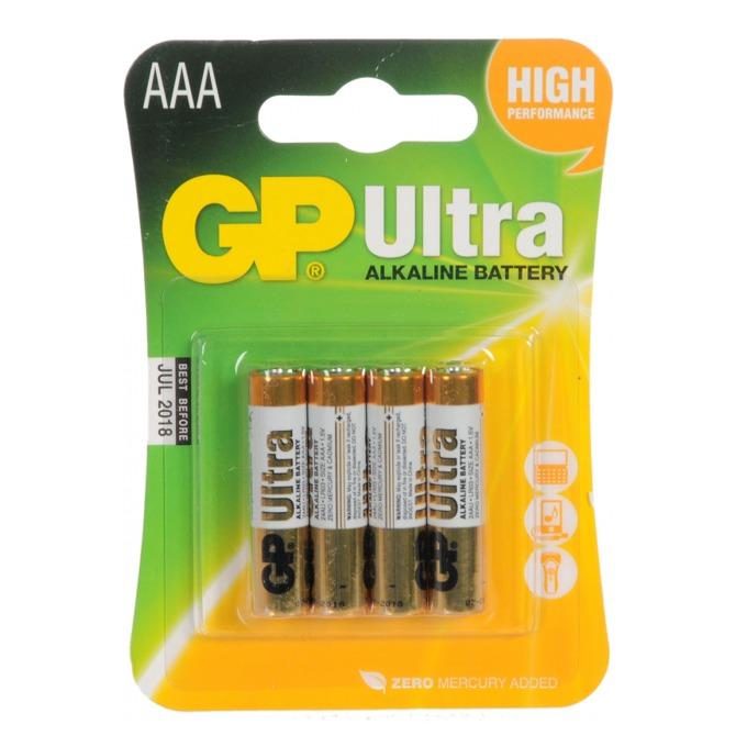 Батерии алкални GP Ultra AAA, 1.5V, 4 бр.  image