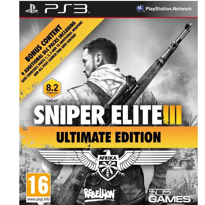 Sniper Elite III Ultimate Edition. включва DLC пакети, за PS3 image
