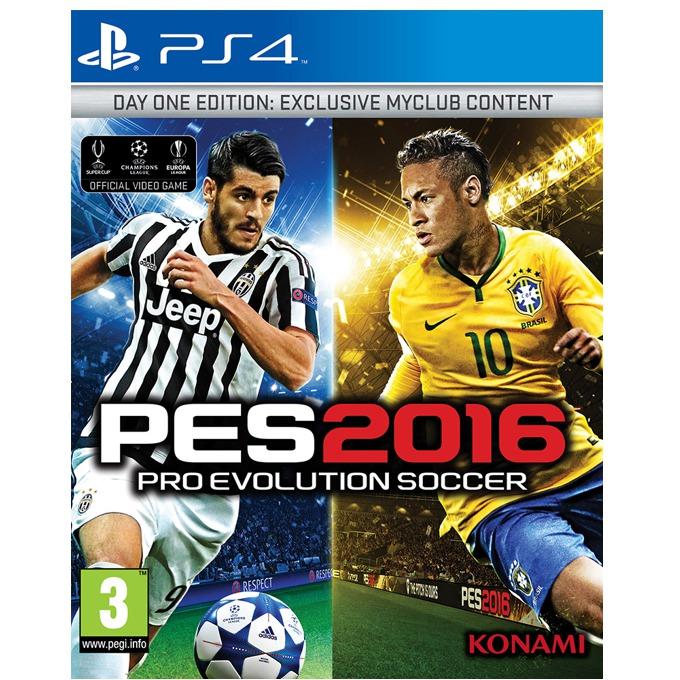 Игра за конзола Pro Evolution Soccer 2016 Day 1 Edition, Бонусите включват: 1x Играч на годината, 1x Играч за 10 мача, 10,000 GP x 10 седмици, фигурка на Neymar JR, за PS4 image