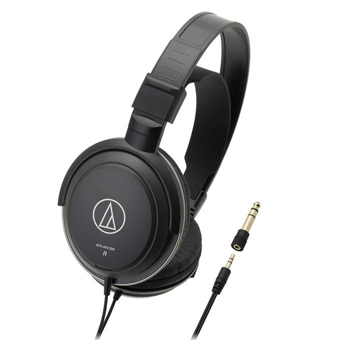 Слушалки Audio-Technica ATH-AVC200, 40мм говорители, 3.5мм позлатен жак, 3м кабел, черни image