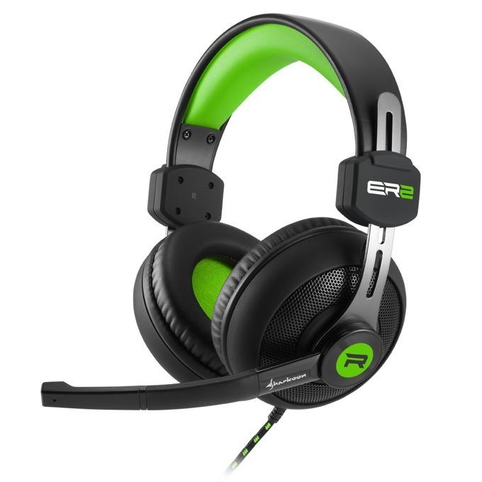 Слушалки Skiller SGH2, микрофон, 20 Hz-20000 Hz, 92 dB ± 3 dB, черен/зелен image