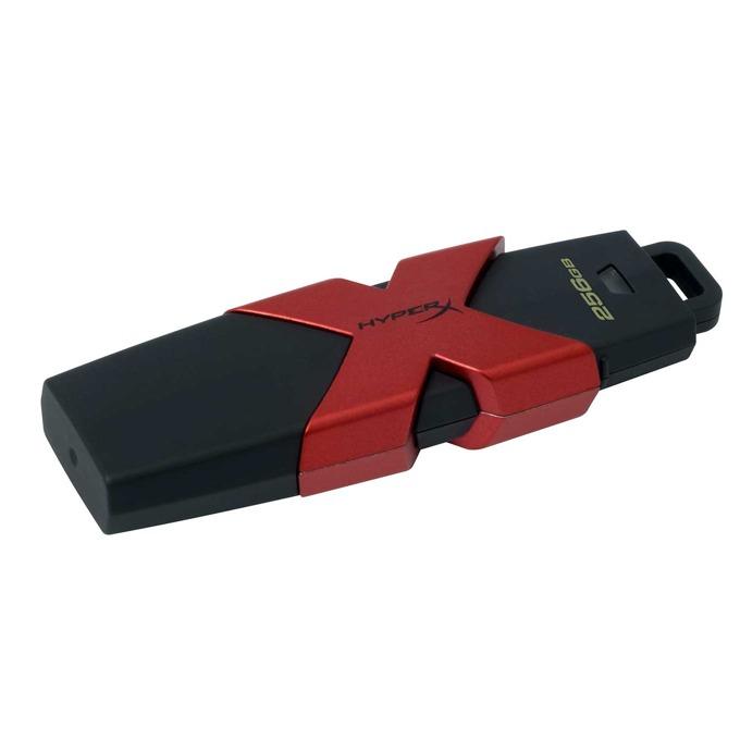 Памет 256GB USB Flash Drive, HyperX SAVAGE, USB 3.1, черно/червена image