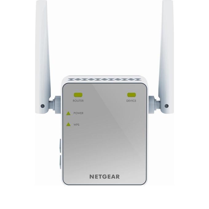 Extender/Екстендър, Netgear EX2700, N300, 1 port, Wall plug, RANGE EXTENDER, 300 Mbps, 2 външни антени image
