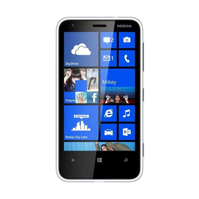 "Смартфон Microsoft Lumia 620, бял, 3.8"" (9.65 cm) екран, дву-ядрен Qualcomm Snapdragon S4 1GHz, 512MB RAM, 8GB Flash памет (+microSD слот), 5Mpix & 0.3Mpix camera, Windows Phone 8, 127g image"