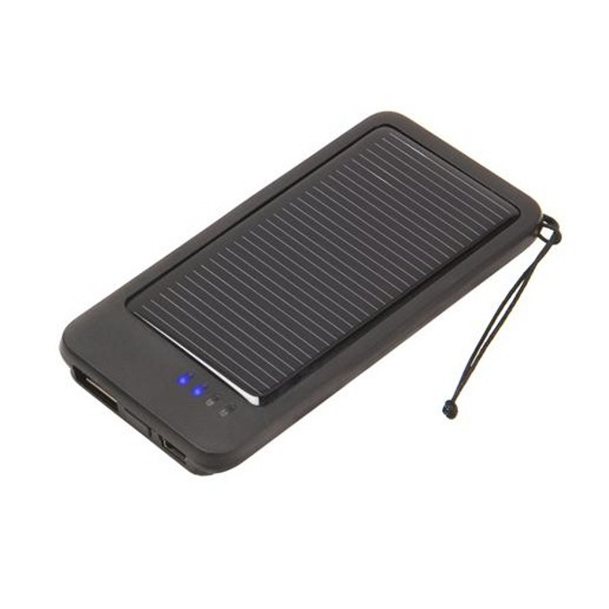 Bъншна батерия/power bank/ A-solar Onyx AM109, соларна, 1000 mAh, за мобилни телефони (с много накрайници) image