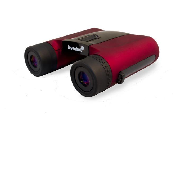 Бинокъл Levenhuk Rainbow 8x25 Red Berry (Червена боровинка), 8x оптично увеличение, 25mm диаметър на лещата image