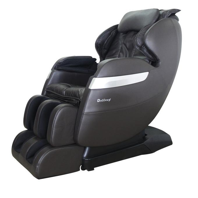 """Масажен стол Rexton GJ-5102ZBR, еко кожа, крачна секция, режим """"нулева гравитация"""", въздушен механизъм, ролков механизъм, многофункционално дистанционно, черен image"""