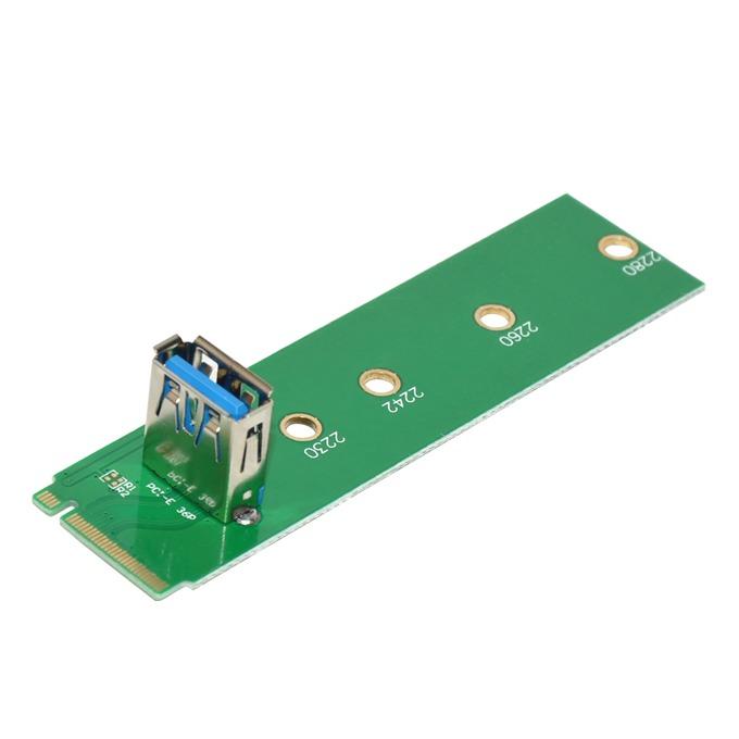 Контролер/екстендер, Makki MAKKI-M2-TO-USB от M.2(м) към USB(ж), за mining image