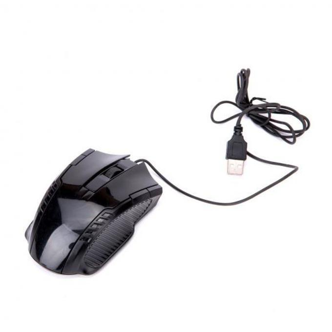 Мишка Royal JW1092, оптична (1000 dpi), USB, черна image