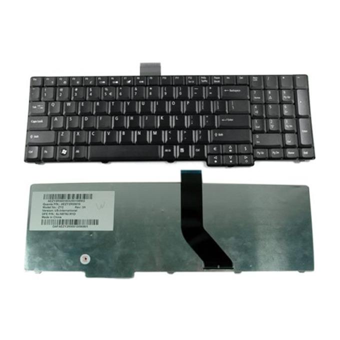 Клавиатура за Toshiba Satellite C850, съвместима с C855/C850D/L850/L850D, Gray Frame, Black image