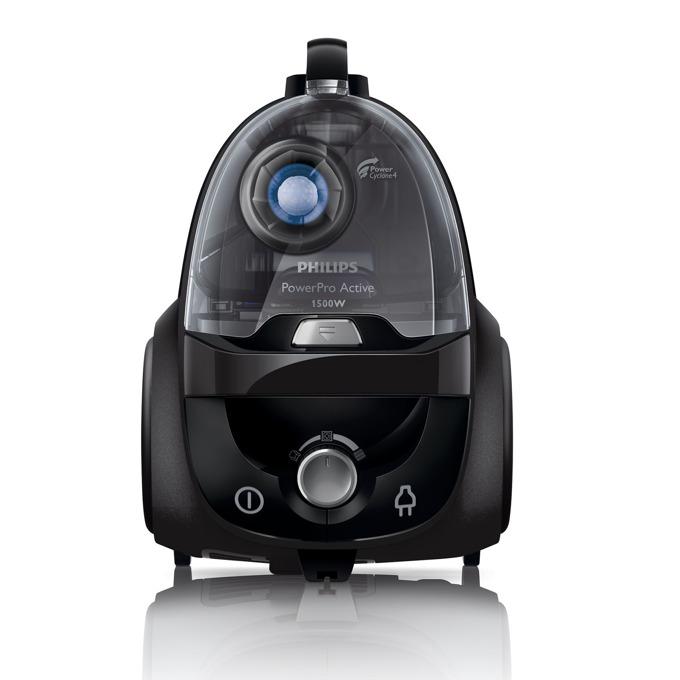 Прахосмукачка Philips Performer Activе FC8664/91, с торба, 1400 W, 4 л. капацитет на торбата, енергиен клас F, EPA филтър, AirflowMax технология, черна image