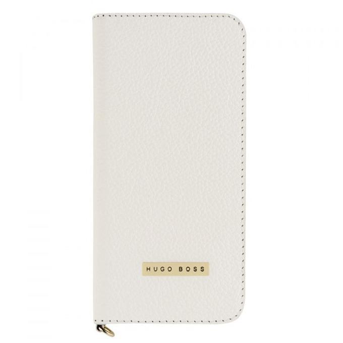 Калъф за iPhone 6, Flip cover, кожен, HUGO BOSS Gracious Booklet, луксозен, бял image