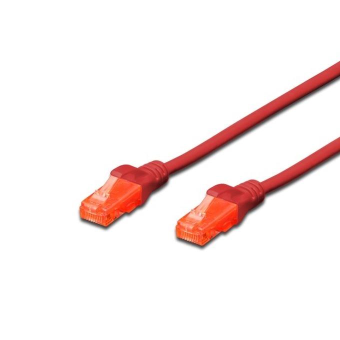 Пач кабел Digitus DK-1612-005, UTP, cat.6, 0.5m, червен image