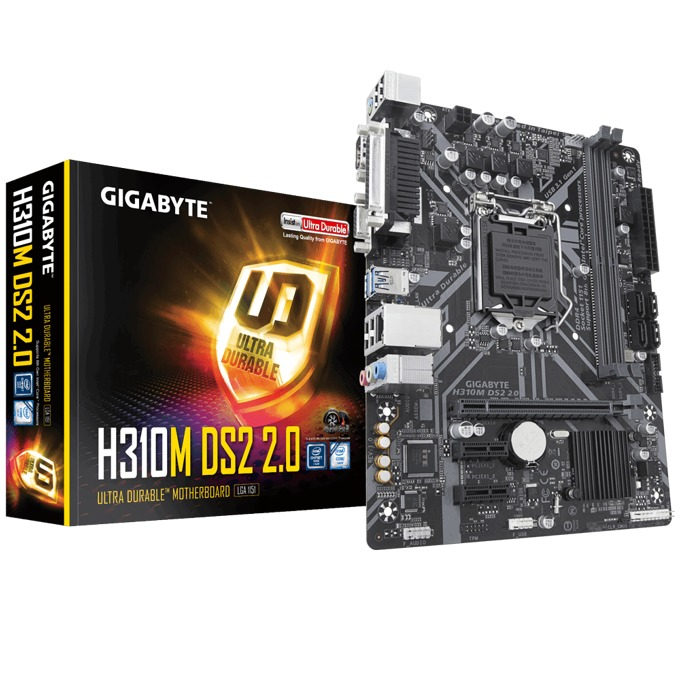 Дънна платка Gigabyte H310M DS2 2.0, LGA1151, DDR4, PCI-E (VGA), 4x SATA 6Gb/s, 4x USB 3.1 Gen 1, Micro ATX image