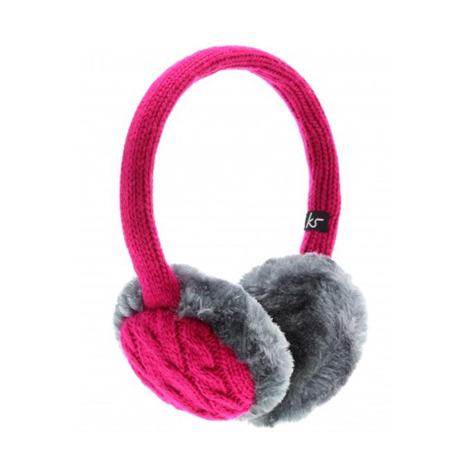 Слушалки KitSound Earmuffs Chunky, розови, с ушанки image